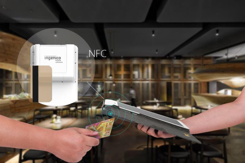 removable battery card reader machine at discount for restaurant