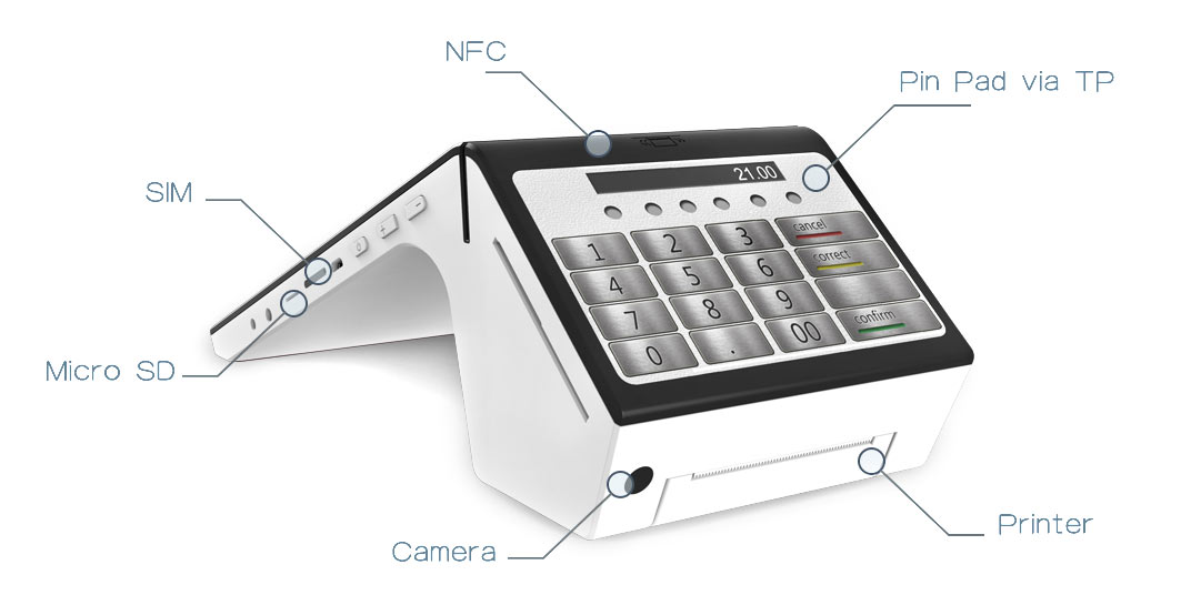 Fdata pos portable top brand for coffee shop-1
