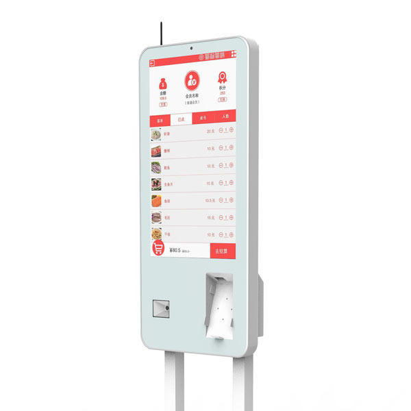 convenient self service kiosk wall-mounted for bank