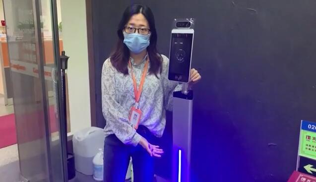 Facial ID Recognition Terminal Biometric Attendance System Fever Detection Terminal for Entrance Gate