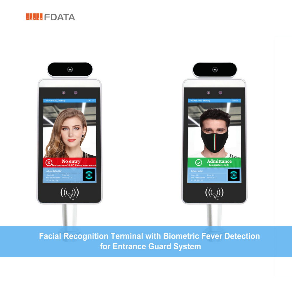 facial recognition fever detection terminal