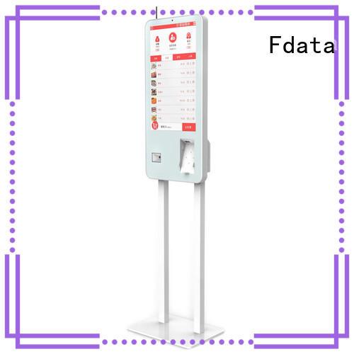 Fdata charging kiosk floor standing for ordering