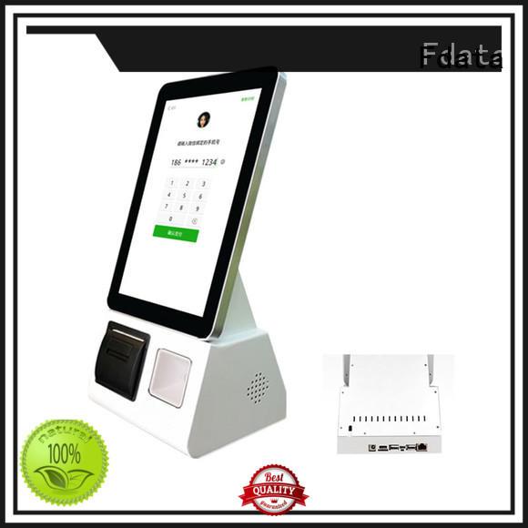 Fdata smart kiosk floor standing for restaurant