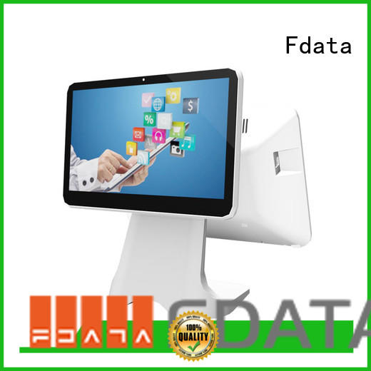 Fdata cash register with card reader multi-language for supermarket