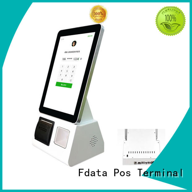 10.1 inch android based self-ordering terminal with built in barcode scanner and printer