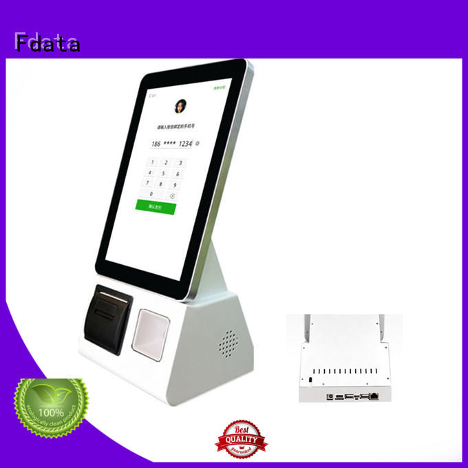wifi-supportive touch screen information kiosk easy operation at discount Fdata