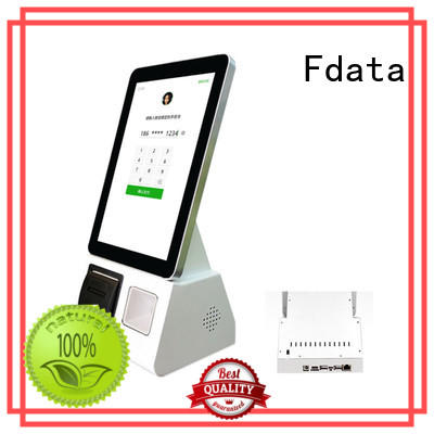 Fdata latest touch screen information kiosk floor standing for supermarket