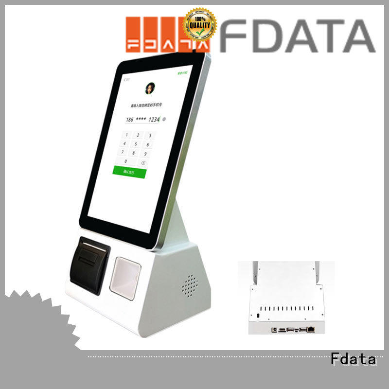 Fdata custom mall kiosk floor standing for ordering