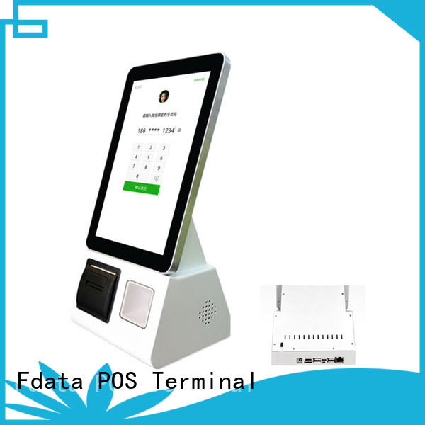 Fdata mobile kiosk easy operation for supermarket