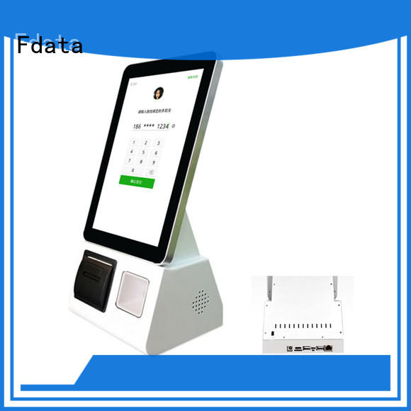 Fdata food ordering kiosk wholesale for chain shops