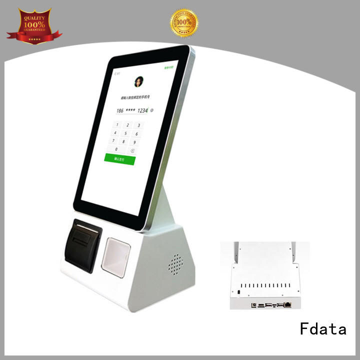 Fdata wifi-supportive food kiosk wall-mounted for ordering