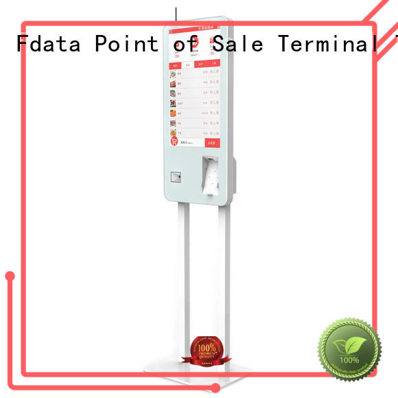 Fdata wifi-supportive kiosk machine easy operation for bank