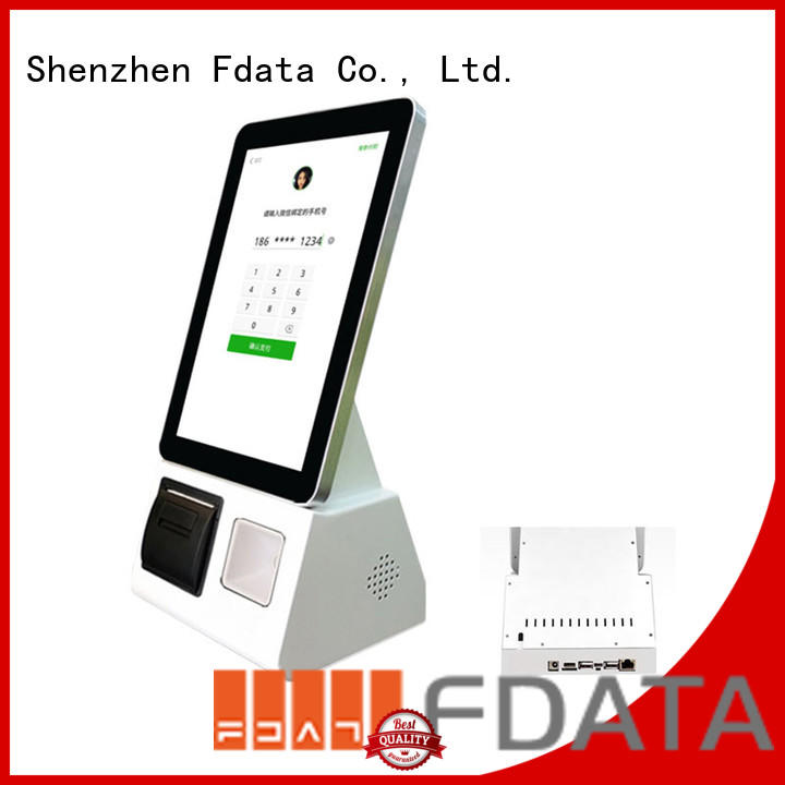 cost-effective touch screen information kiosk wall-mounted for ordering