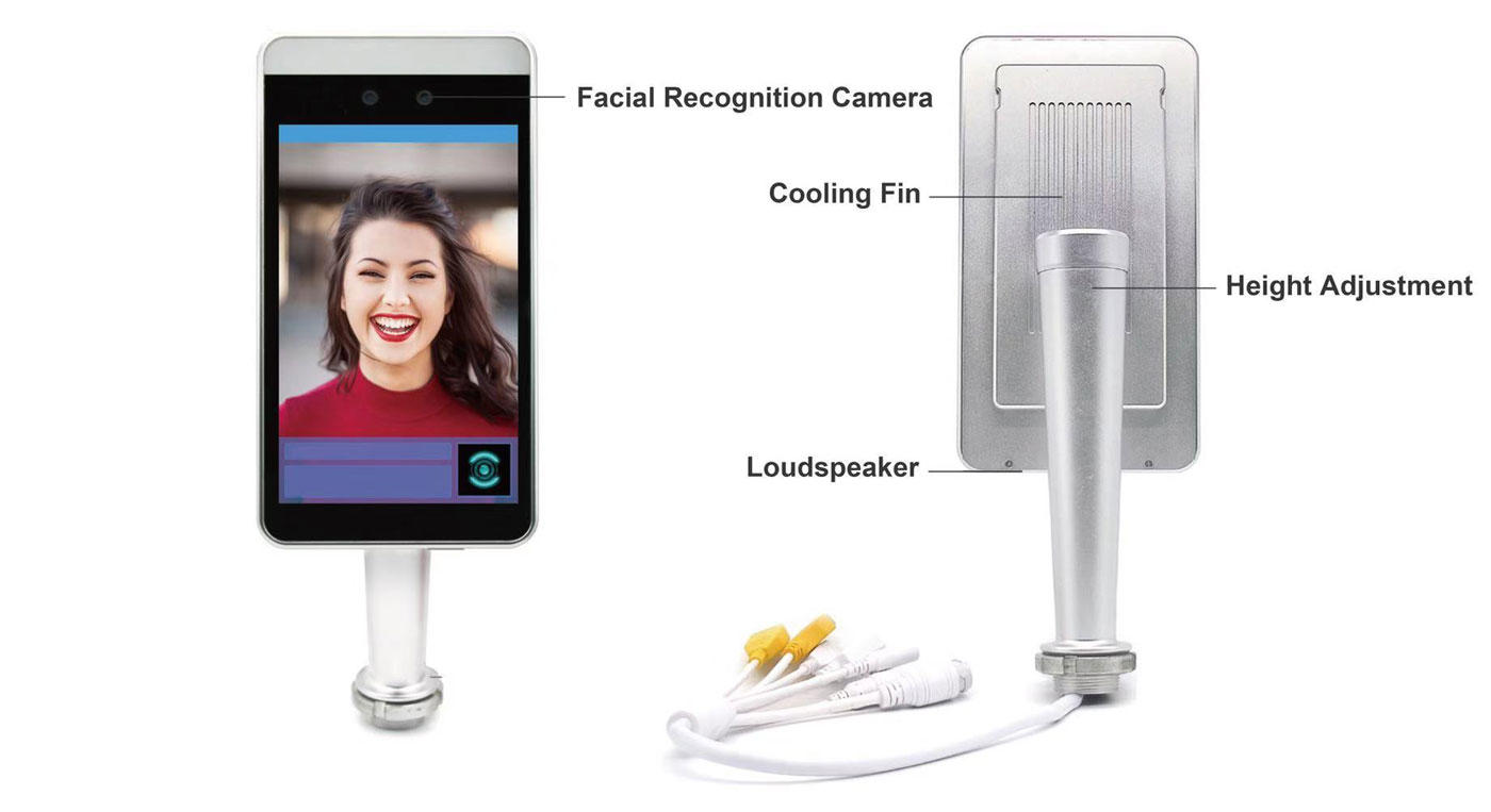 stable face scanner wholesale with bar code reader-2