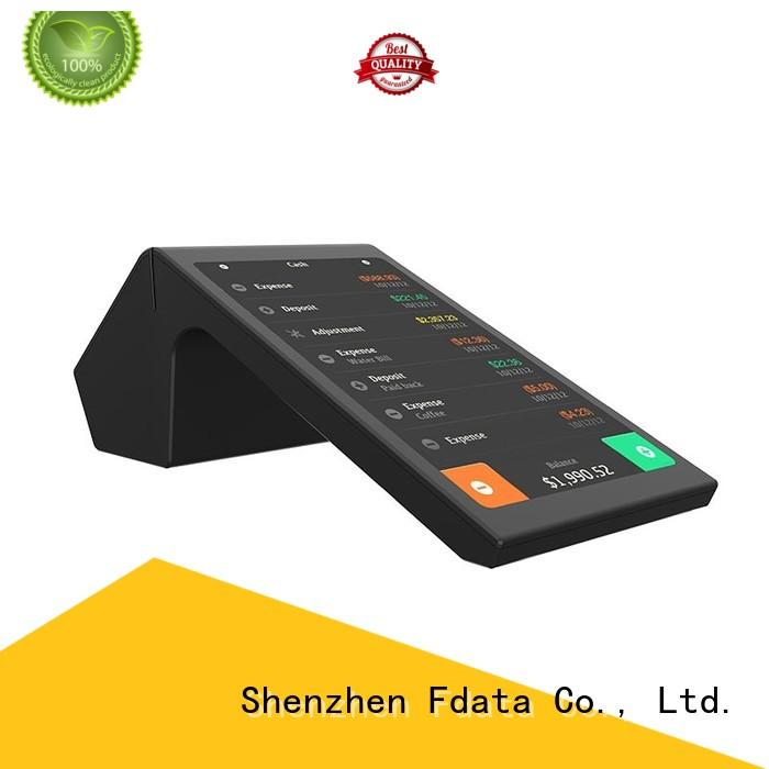 Fdata removable battery facial recognition terminal energy-saving best tablet solution