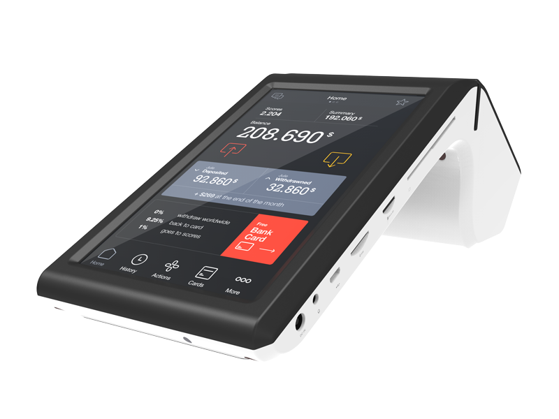 5 point capacitive touch screen smart terminal energy-saving for restaurant-5