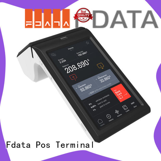 android mobile pos terminal best price with bar code reader Fdata