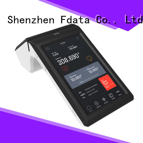 Fdata wifi-supportive portable pos terminal factory for sale