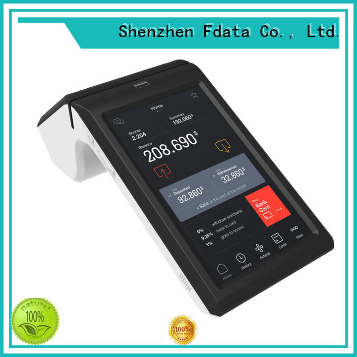 Fdata reliable mobile pos terminal wholesale for restaurant