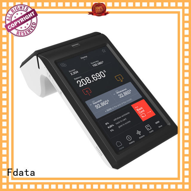 Fdata 5 point capacitive touch screen payment terminal top brand best tablet solution