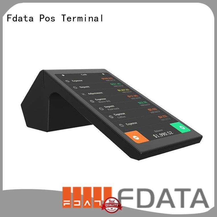 android mobile pos terminal dual display with bar code reader Fdata