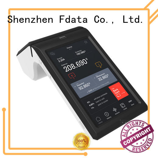 5 point capacitive touch screen facial recognition scanner high-quality with bar code reader