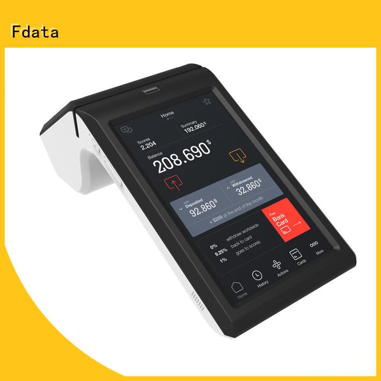 Fdata dual display handheld restaurant pos energy-saving for restaurant