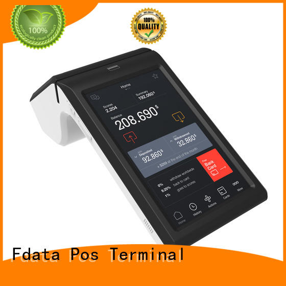 Fdata multi-functional android mobile pos terminal dual display with bar code reader