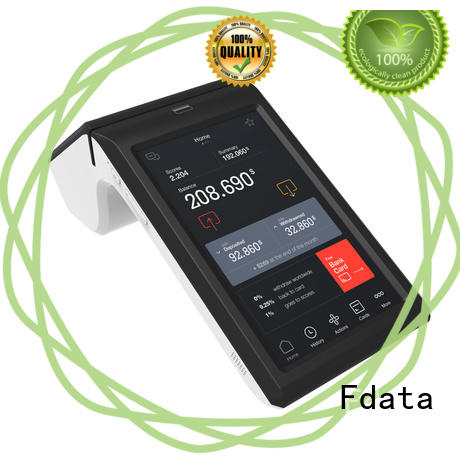 Fdata wifi-supportive pos terminal inquire now best tablet solution