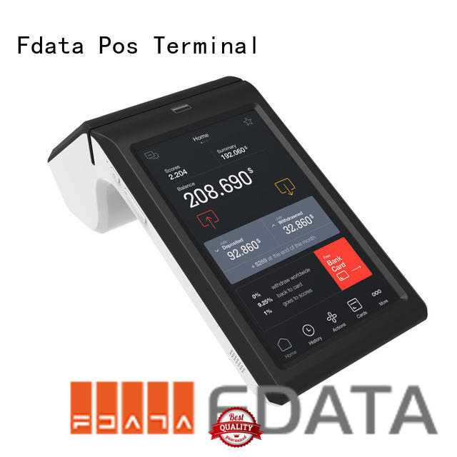Fdata best price wireless pos terminal top brand with bar code reader