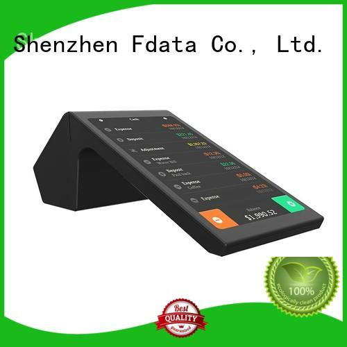 Fdata wifi-supportive mobile pos machine supplier best tablet solution