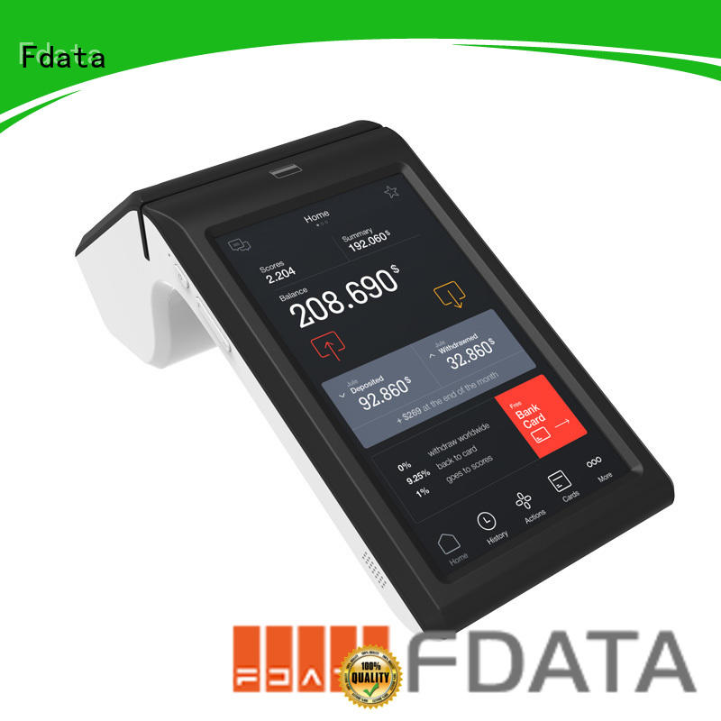 Fdata reliable desktop pos inquire now with bar code reader