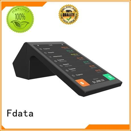 Fdata 5 point capacitive touch screen mobile pos machine best price at discount