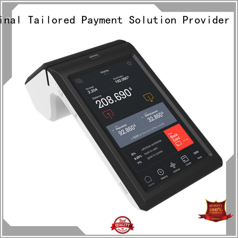 Fdata 5 point capacitive touch screen smart terminal promotional for restaurant