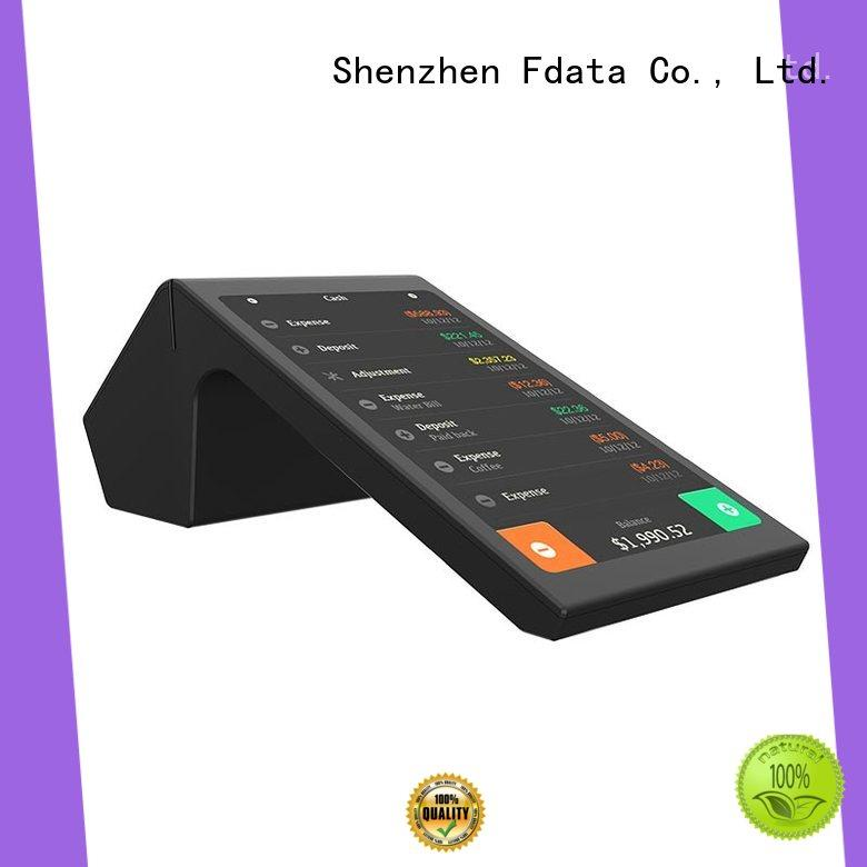 Fdata multi-language payment terminal supplier for coffee shop