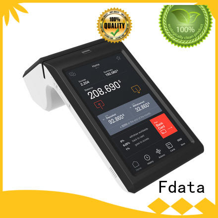Fdata multi-language mobile pos promotional for coffee shop