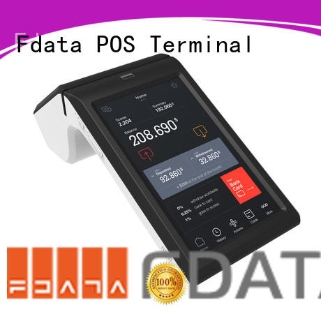 Fdata handheld wireless pos top brand with bar code reader