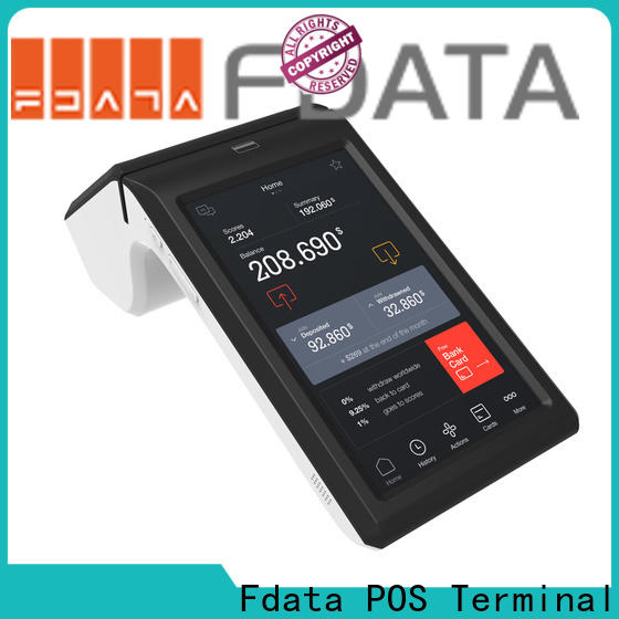 Fdata wifi-supportive handheld pos terminals energy-saving for coffee shop