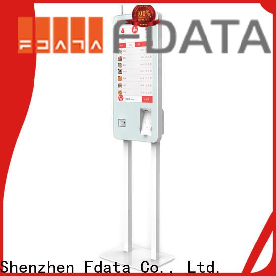 Fdata popular hospital kiosk manufacturer for restaurant