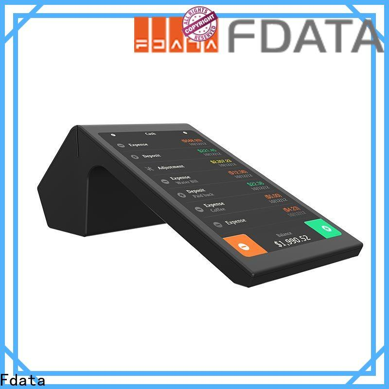 Fdata portable pos machine top brand with bar code reader