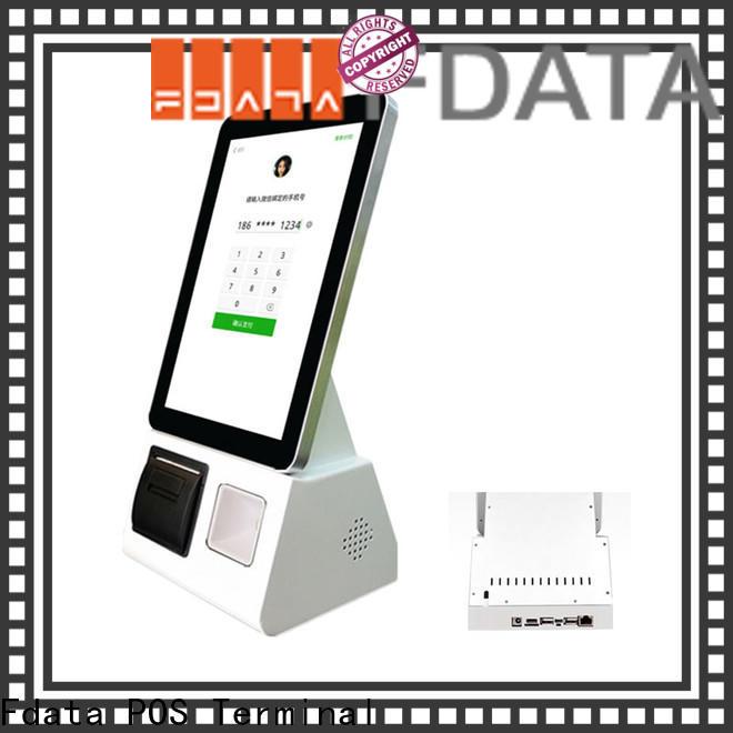 Fdata popular hotel kiosk manufacturer for bank
