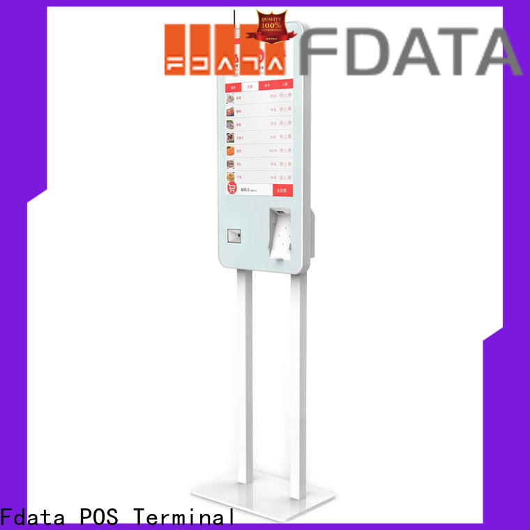 Fdata multi-functional retail mall kiosk design for ordering