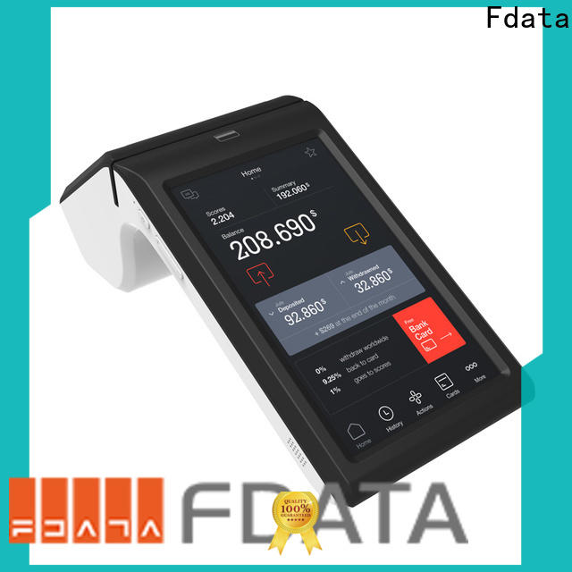 Fdata professional best pos terminals promotional with bar code reader