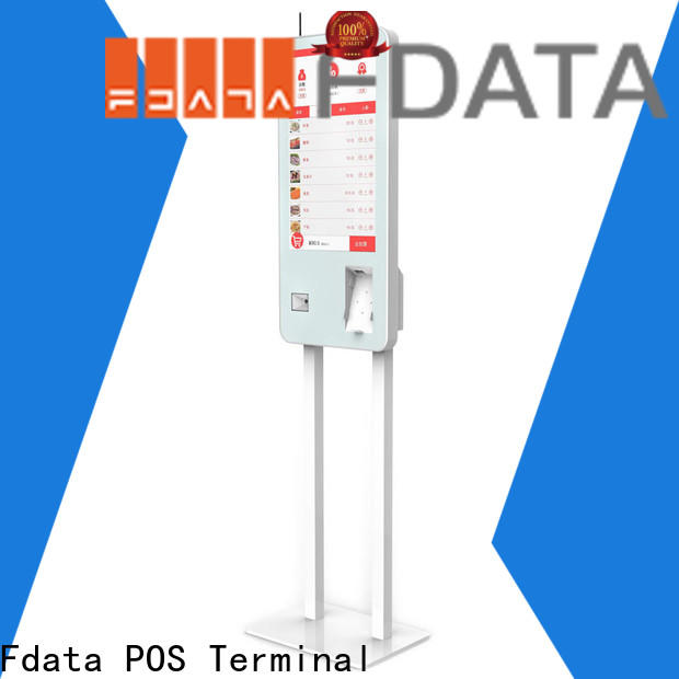 Fdata top quality kiosk touchscreen floor standing at discount