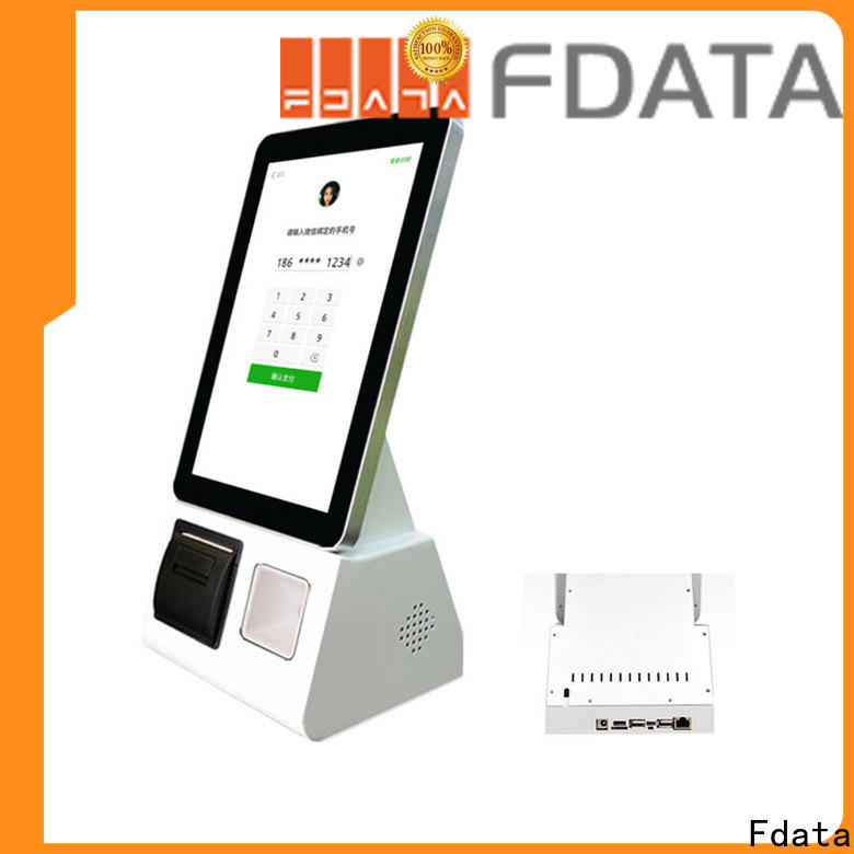 Fdata food kiosk manufacturer for chain shops
