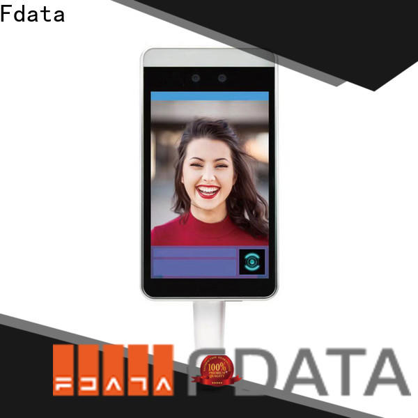 Fdata worldwide face recognition thermometer series used in retail