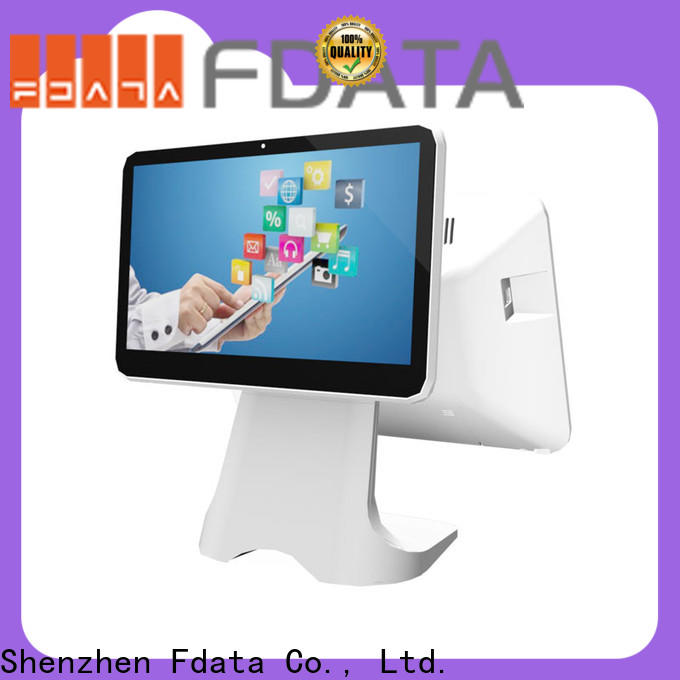 Fdata approved cash register with card reader multi-language for restaurant