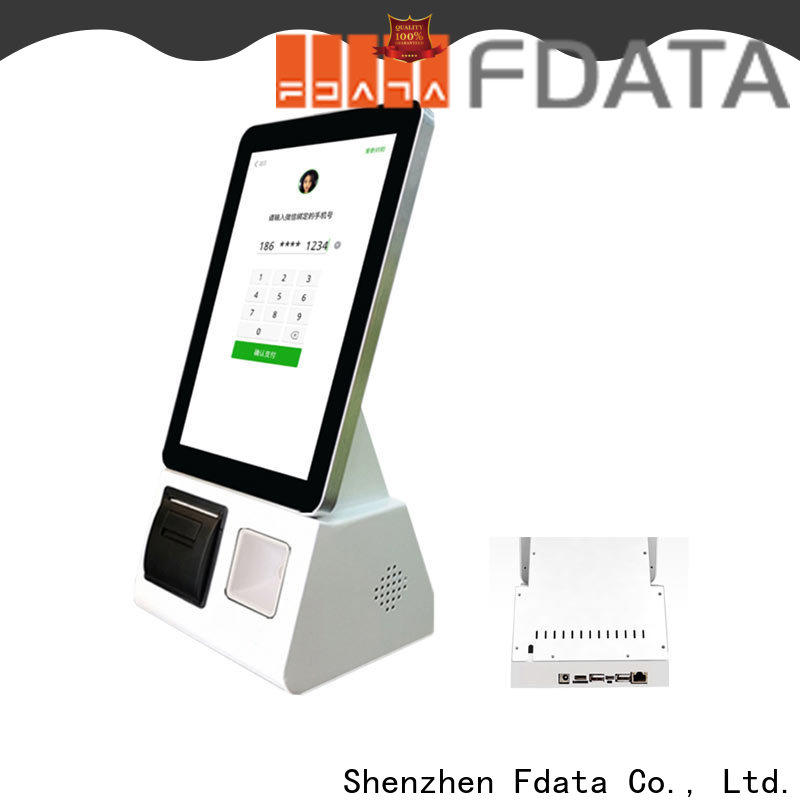 Fdata charging kiosk easy operation for restaurant