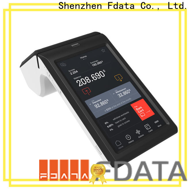 dual display pos handheld terminal inquire now with bar code reader