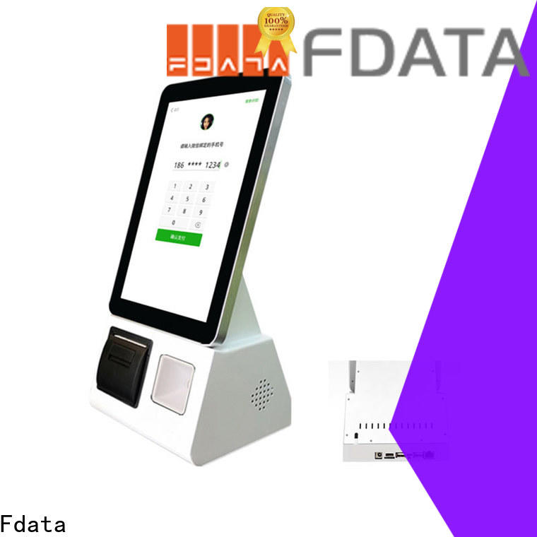 Fdata wifi-supportive touch kiosk factory price for ordering